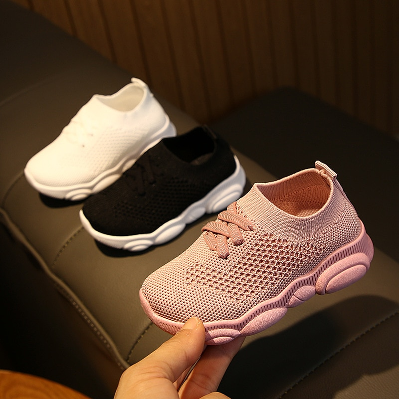 2021 new factory wholesale soft-soled toddler shoes 0-2-6 years old boys and girls breathable sports shoes baby socks shoes non-