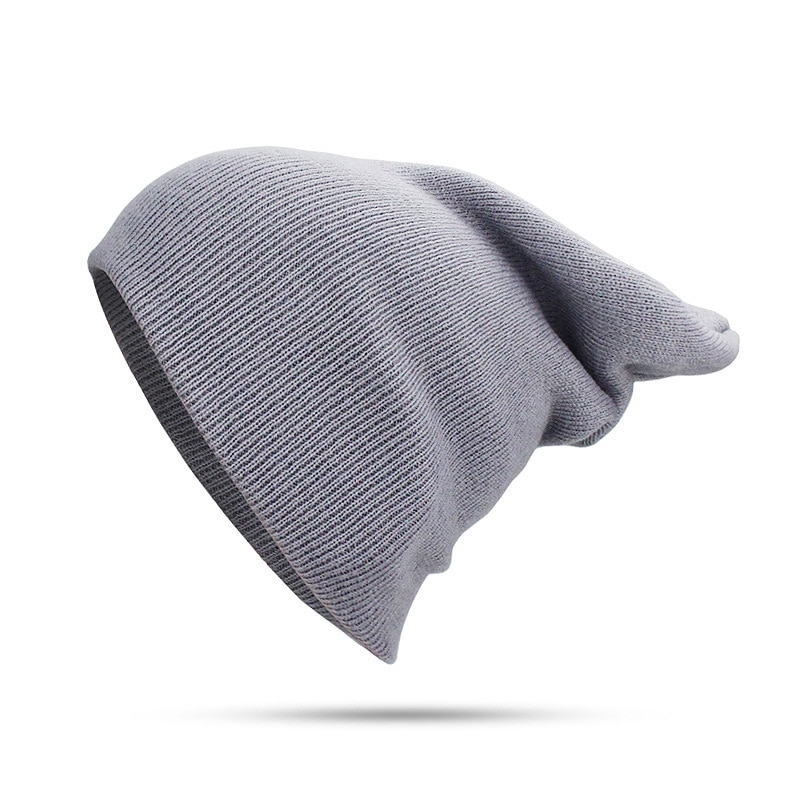 Осенне-зимняя мужская и женская шапка без покрытия вязаная шапка модная универсальная пуловер и шапка однотонная пуловер и шапка