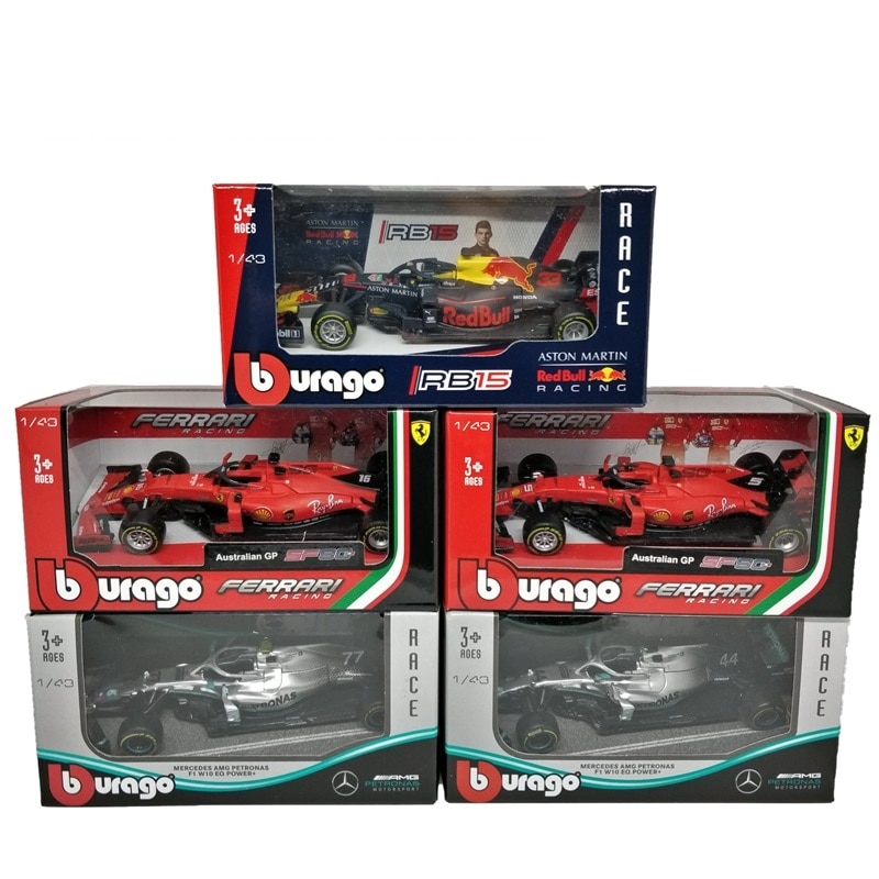 BBurago 1:43 F1 2019 AMG W10 RedBull RB15 SF90 Formel eine Diecast Racing Modell Auto Spielzeug Autos
