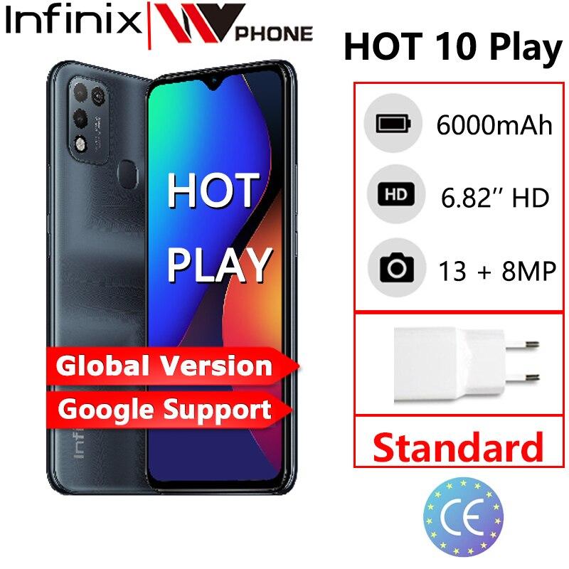 Перейти на Алиэкспресс и купить Infinix Горячая 10 играть глобальная версия 2 Гб оперативной памяти, 32 Гб встроенной памяти 4 Гб 64 Гб Смартфон 6,82 ''HD + Дисплей 6000 мА/ч, Helio G25 G35 мобил...