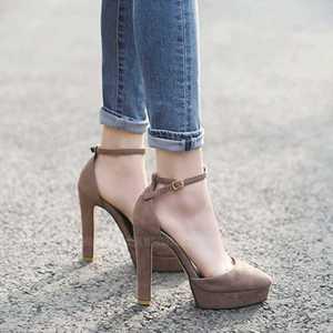 11CM PUMPS Shallow mouth high heels 2019 new comfortable women's shoes waterproof platform work shoes