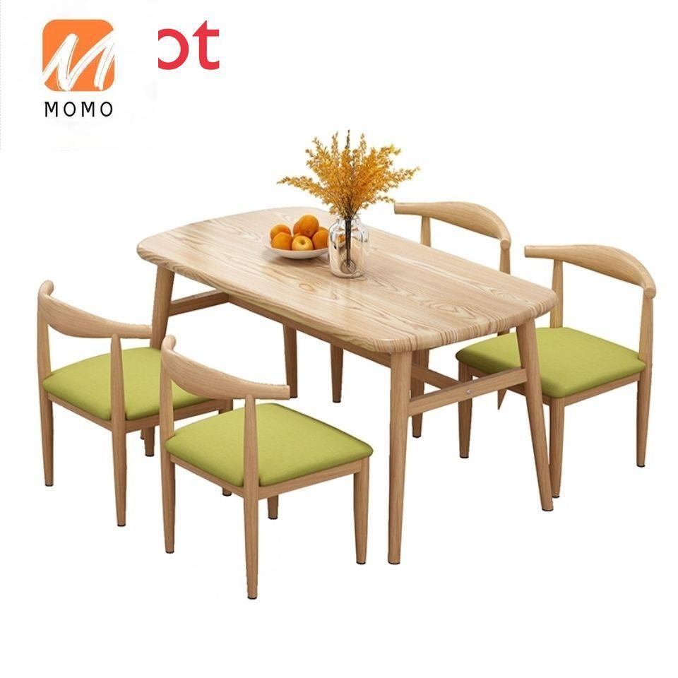 طاولة طعام فاخرة المنزلية الصغيرة الحديثة بسيطة طاولة طعام طاولات وكراسي مجموعة مستطيلة الجدول في بعض الأحيان الجدول وكرسي