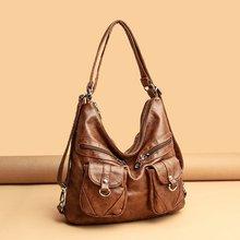 Fashion Designer Vintage Leather Shoulder Bags for Women 2021 Large Capacity Female Handbag Crossbod