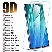 Vetro protettivo 9D per Xiaomi Redmi Note 8T 8 7 6 Pro pellicola proteggi schermo temperato Redmi 8 8A 7 7A 6 6A K20 K30 pellicola vetro di sicurezza