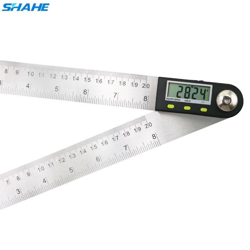 Digital Angle Finder Ruler 200 mm Digital Protractor Digital Goniometer 2-in-1 Angle Gauge With Stainless Steel Blades