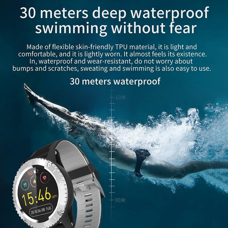 Rastreador de Fitness com Pressão Arterial e Freqüência Sono à Prova Smartver para Iphone e Android Relógio Inteligente Cardíaca Monitor Dwaterproof Água