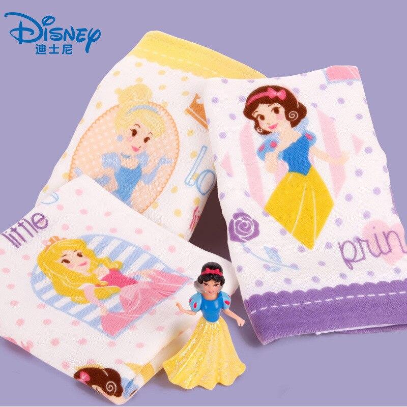 Toalla de princesa de Disney, toalla de algodón de dibujos animados para niños y adultos, toalla suave absorbente para la cara, pañuelo de regalo de 25x50cm