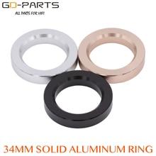 34*23*6mm anneau de Base en aluminium usiné rondelle de cercle de décoration pour Vintage Hifi Audio 6N1 12AX7 12AU7 ECC81 AMP Tube bricolage * 1