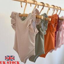 Neugeborene Jungen Mädchen baumwolle Bodsuit Solide Ärmellose Overall Outfits Kleidung