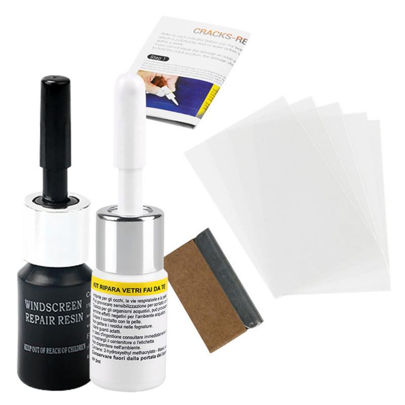 Automotive Glass Repair Fluid Kit Car Window Windshield Glass Crack Chip Repair Tool Kit  Car Universal Wash & Maintenance