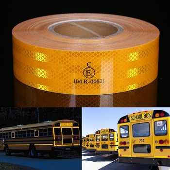 5cmx50m/Roll Reflective Material Tape Sticker Safety Warning Tape Reflective Film Car Sticker 3 colors White Yellow Red Decal