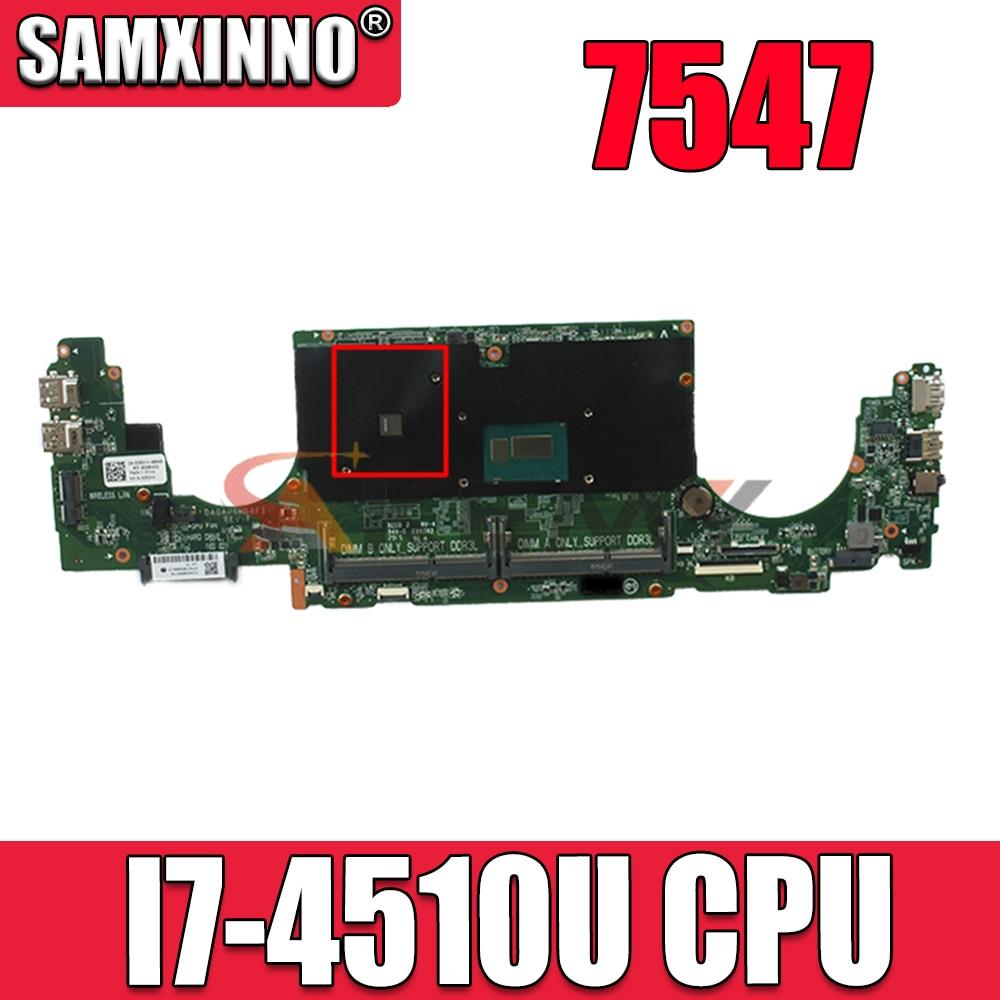لأجهزة الكمبيوتر المحمول DELL 7547 اللوحة الأم SR1EB I7-4510U وحدة المعالجة المركزية DA0AM6MB8F1 مع CN-0CRDXX 0CRDXX CRDXX 100% تعمل بشكل جيد