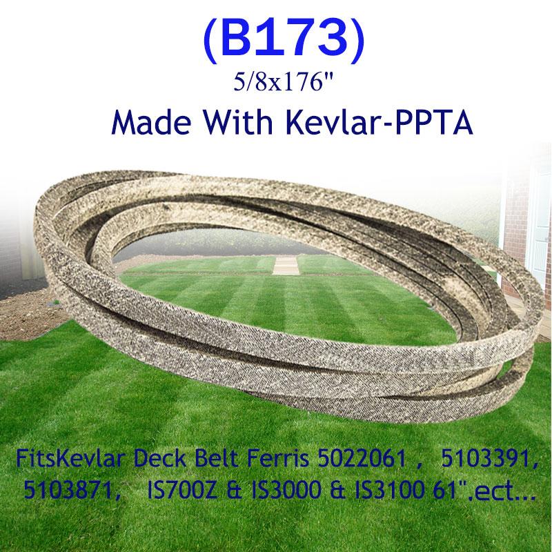 Correa de cubierta 5022061, 5103391 de 5103871 Para fibra de aramida Para césped motor IS700Z IS3000 IS3100 61 paño seco 8x176