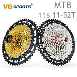 1pc vg esportes 11 velocidade cassete mtb bicicleta cassete liga de alumínio suporte roda dentada 50t/52t ampla relação engrenagem escalada preto vermelho