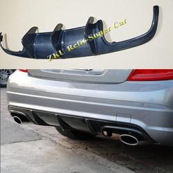 Para Mercedes Benz AMG W204 C63 4 Porta 09-11 Prophas AMG Estilo Fibra de Carbono Difusor Traseiro Para Carros spoiler Protetor