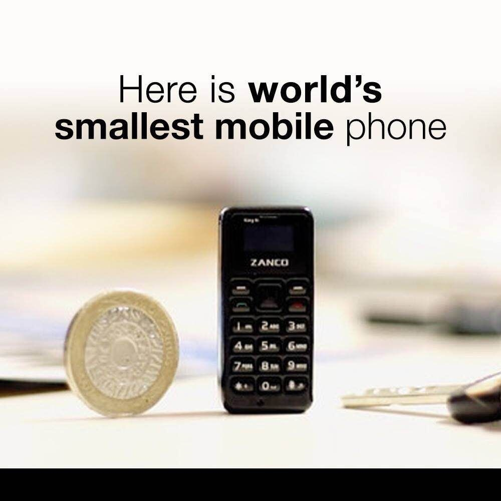 ZANCO tiny t1 World's Smallest Cell Phone with voice changer Unlocked Mini Mobile Phone Portable Holiday phone(Limited stock )