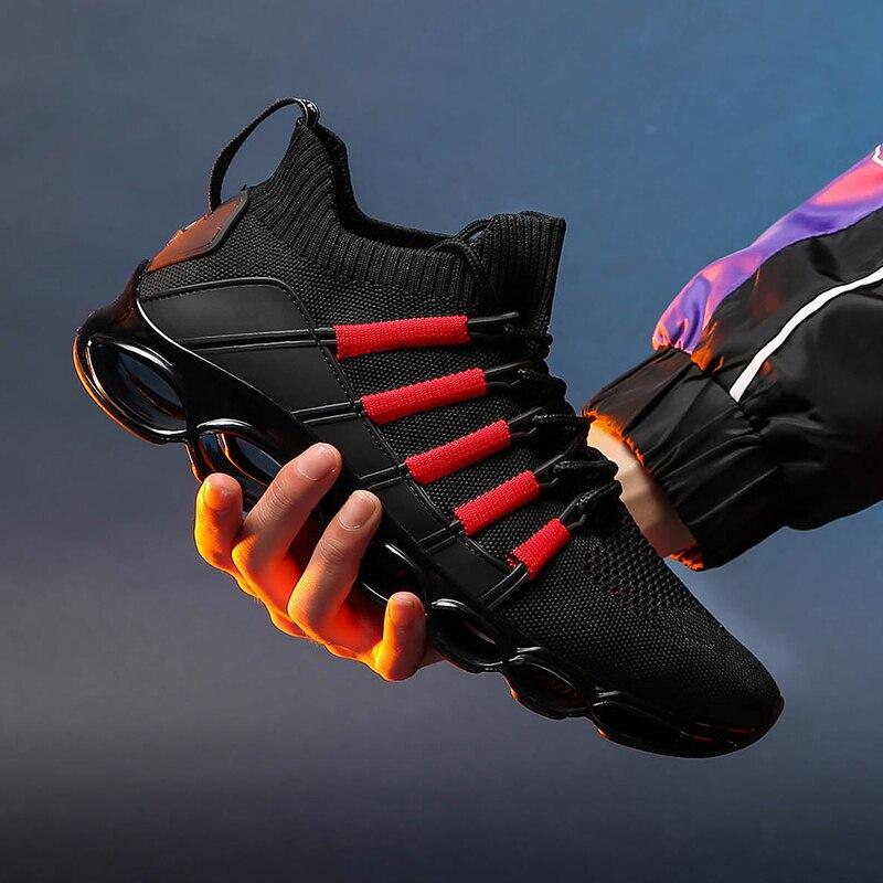 Zapatillas de correr para hombre de alta calidad, zapatillas con suela acolchada, zapatillas transpirables para exterior, zapatos deportivos para caminar, Jogging, nueva tendencia