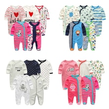 Baby Boy Clothes Multi-Piece Cotton Newborn Baby Romper Boy Girl Clothes Full Sleeve Jumpsuit Baby P