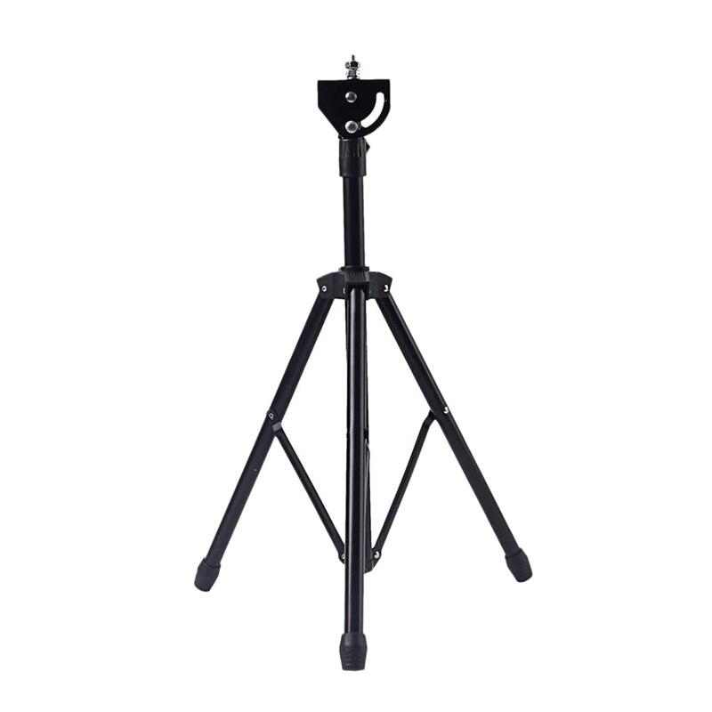 XSXS--8 pulgadas ajustable Metal trípode Dumb Drum soporte práctica almohadilla Rack soporte de percusión accesorio negro