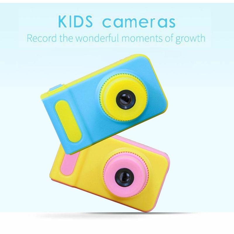 Mini Digital Camera Kids Toys Camera Children Cute Cartoon Camera 2.0inch HD Screen Photography DV f