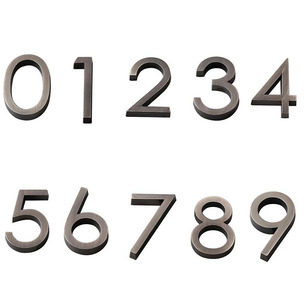 6cm Plated House Door Plaque Address Number Digit Figure Plate Sign Hotel Decor