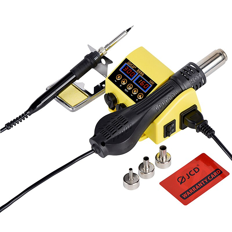 JCD 8898 8858 Hot Air Gun Soldering Rework Station LCD Digital Display Heat Gun for Moblie Phone SMD Welding Repairing Tool 800W