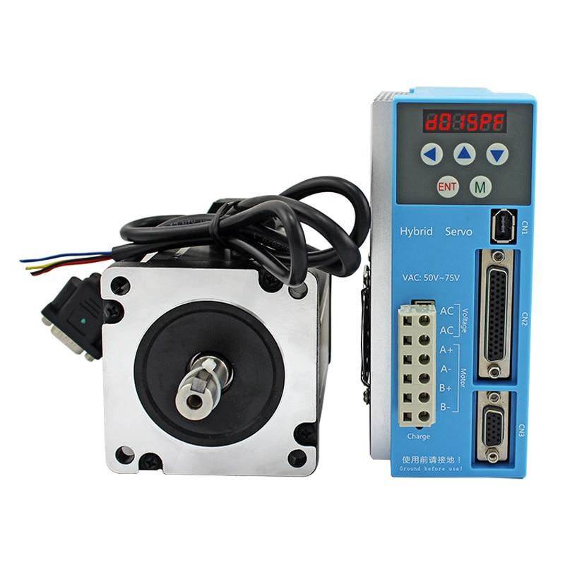 High speed 86 Nema34 digital servo kit 10Nm 7.5A closed loop stepper motor match 2-phase hybrid servo drive LCDA808H+LC86H2128