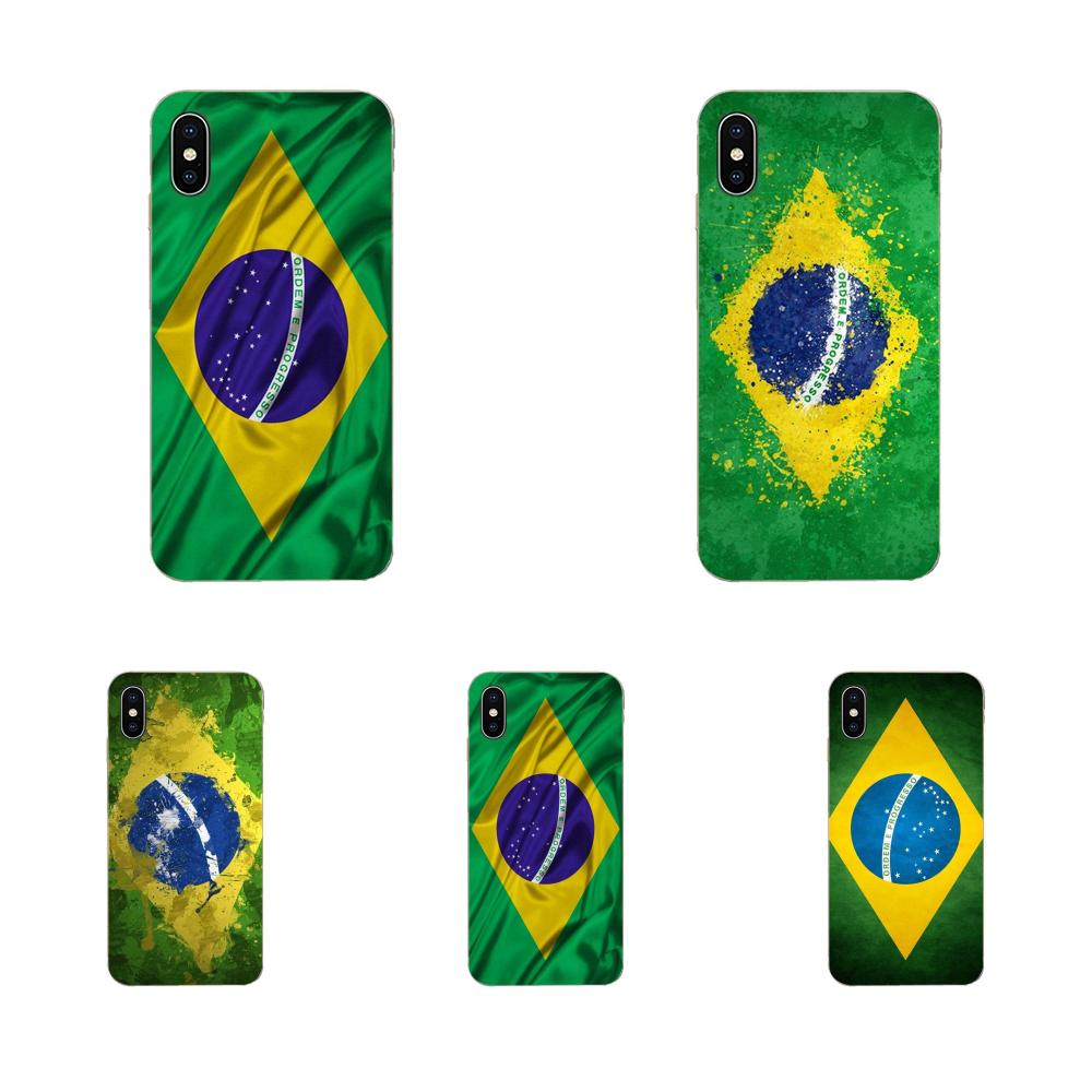 Para Samsung Galaxy A51 A71 A81 A90 5G A91 A01 S11 S11E S20 Plus Ultra funda de silicona bandera de Brasil