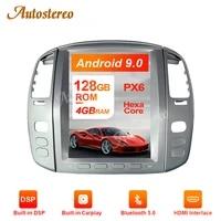 for lexus lx470lx 470 2002 07 tesla style px6 android 9 car multimedia player gps navigation stereo head unit car radio carplay