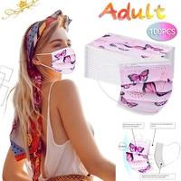 mascarillasdetela mascarilla Adult Mask Disposable Face Mask  Industrial 3Ply Ear Loop 10/20/50/100PCS Cartoon cotton mask