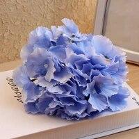 10pcs 54pcs petals artificial hydrangea flower head diy flower ball wreath home wedding decorative road lead silk flower head
