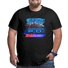 Yestrong Man Big Tall Tees Logo of Chicago Pd Crewneck T Shirt