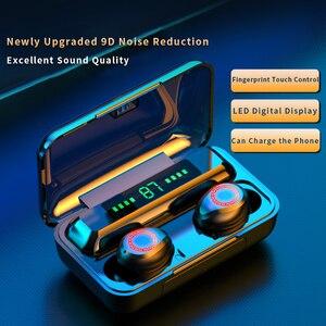TWS-наушники F9 водонепроницаемые с поддержкой Bluetooth 5,0 и сенсорным управлением