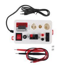 LED rapide testeur de lampe lumière LED lampe tension testeur de puissance pour E27 B22 E14 lampe ampoule boîte de Test avec Buzzer prise ue