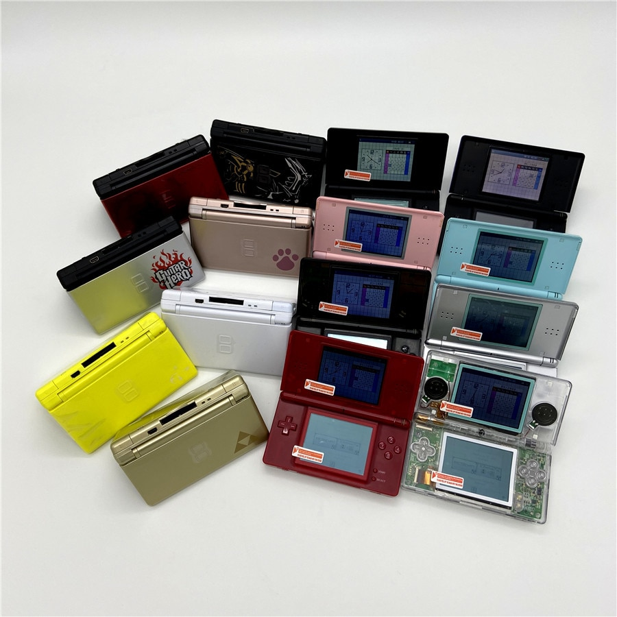 Professionally Refurbished For Nintendo DS Lite Game Console For Nintendo DSL Palm game With Game card and 16GB memory card