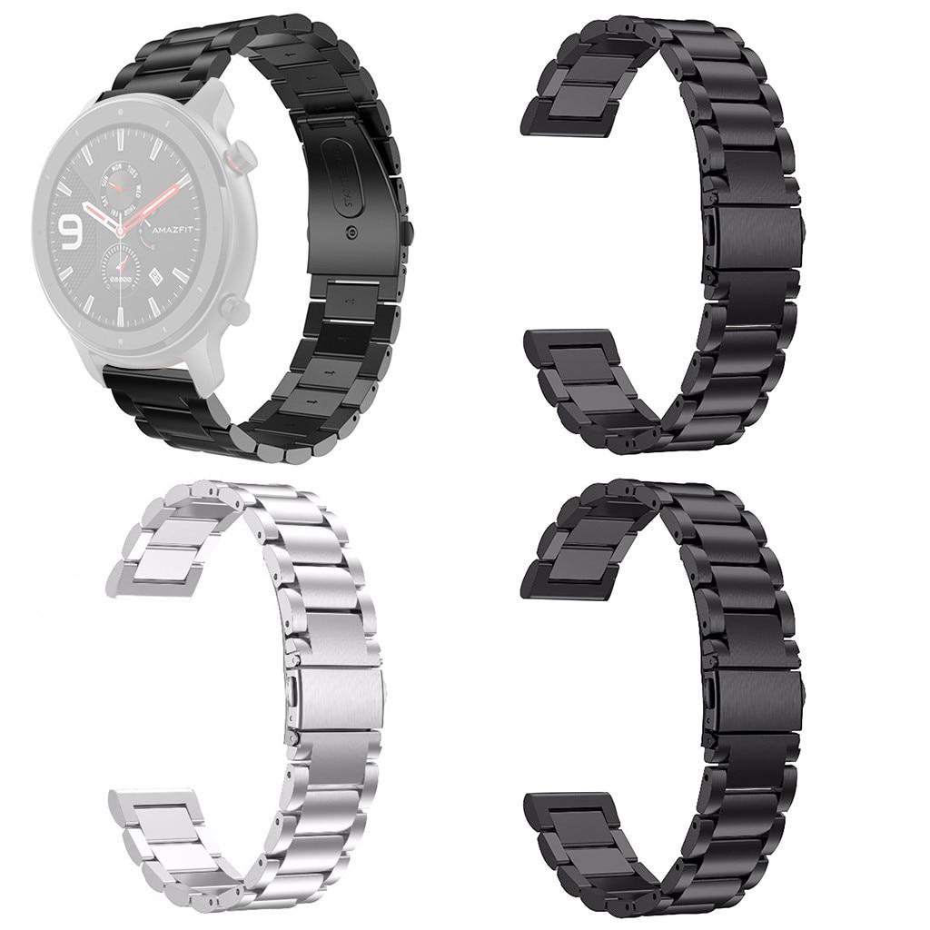 CARPRIE Smart Watchbands correa de reloj para AMAZFIT GTR Smart Watch 47mm de lujo de moda de acero inoxidable pulsera de Metal