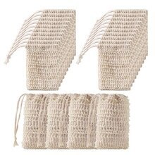 50Pcs Shower Bath Sisal Soap Bag Natural Sisal Soap Bag Exfoliating Soap Saver Pouch Holder Sisal So