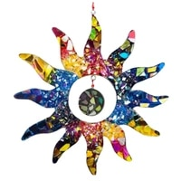colorful sun wall art decor hanging sun statues for indoor and outdoor home garden decoration