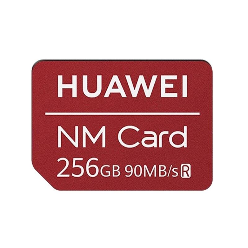 O cartão nano original do telefone móvel do cartão de memória de huawei nm com 2 em 1 leitor de cartão 64g 128g 256g capacidade do cartão de alta velocidade