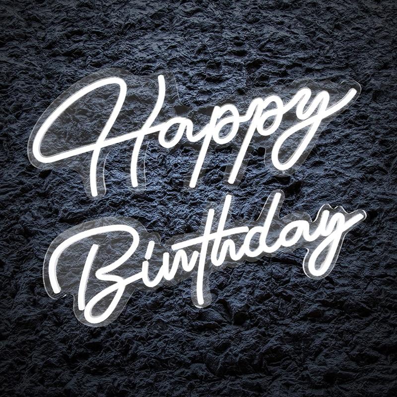 Happy Birthday Custom LED Neon Light Signs Decoration For Room Birthday Party Wedding Decoration bar pub game Wall decor
