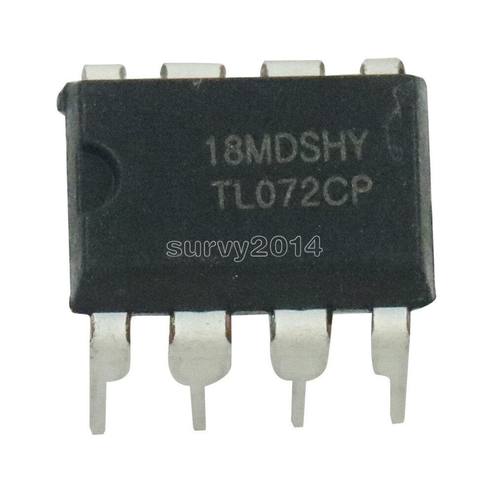 5 uds TL072CP DIP8 TL072 DIP TL072CN DIP-8 nuevo y original IC nuevo