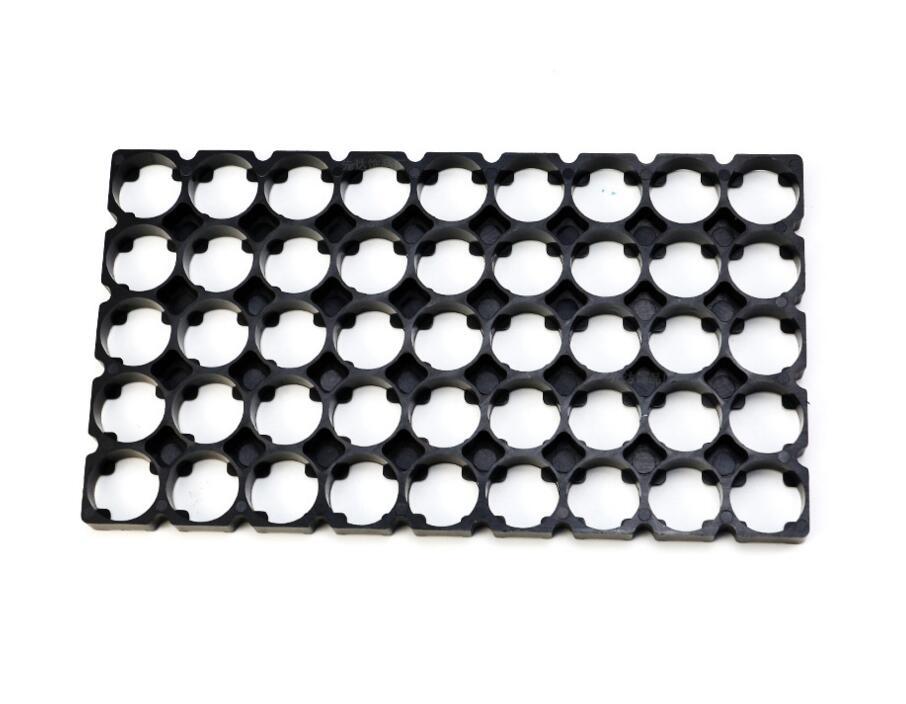 Soporte para pilas 21700 5x9, soporte de seguridad para celdas, soportes de batería cilíndricos de plástico antivibración para baterías de litio 21700