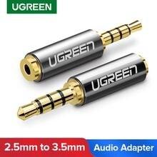 Ugreen Jack 3.5mm do 2.5mm Adapter Audio 2.5mm męski na 3.5mm żeńskie złącze wtykowe na głośnik Aux słuchawki przewodowe Jack 3.5