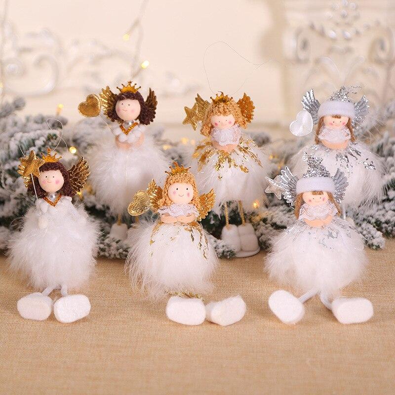 Navidad Angel elfo de muñeca de Navidad para la Decoración de casa decoración de Navidad Feliz Año Nuevo regalos de Navidad Decoración de mesa de Navidad NATAL