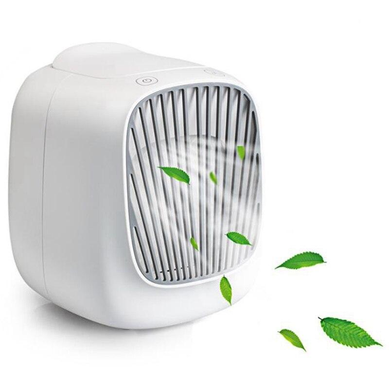 مروحة تكييف هواء صغيرة محمولة ، قابلة للتعديل 3 سرعات ، مبرد سطح المكتب مع 7 ألوان مصباح ليد ، للمنزل مكتب النوم