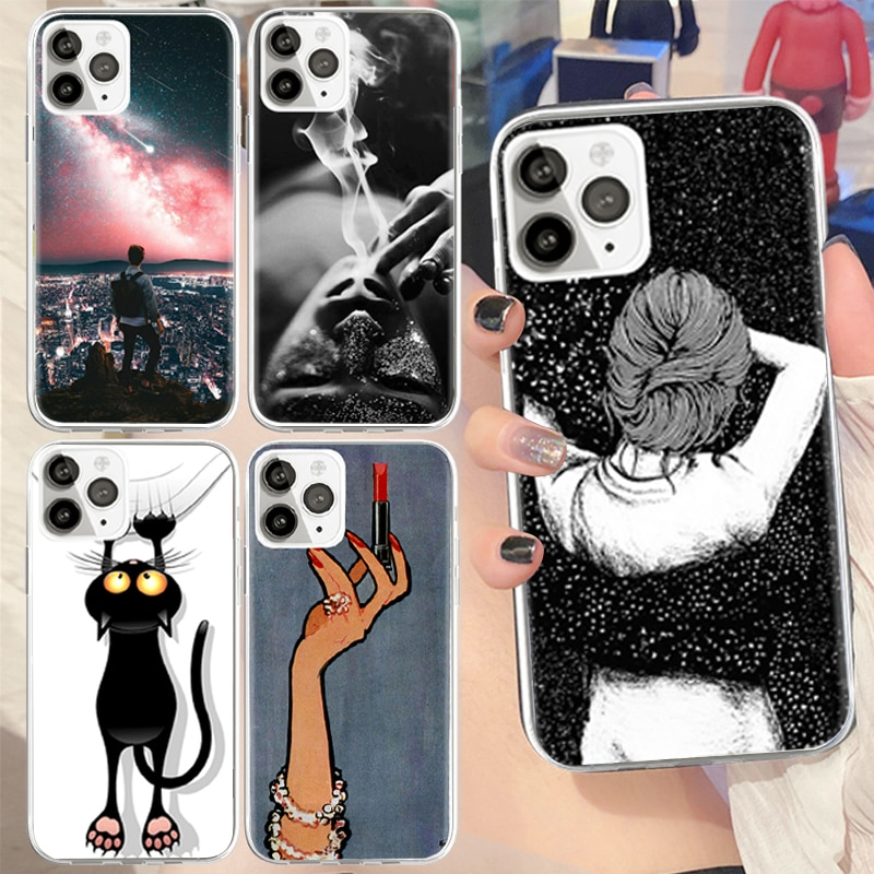 Catoon Printing Soft TPU Covers for IPhone 7 8 Plus 6 6S 11 Pro MAX Soft Silicon Phones Case for IPh