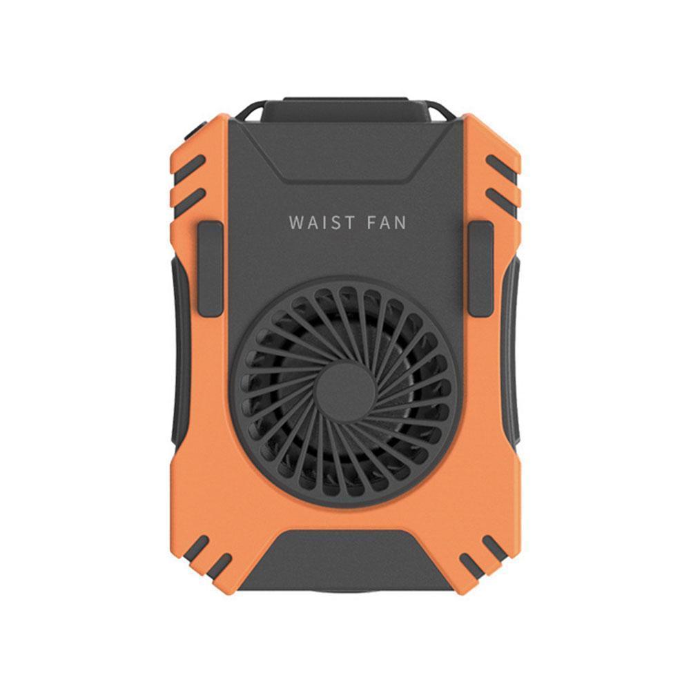Ventilador da Cintura com Velocidades de Energia Banco e Vento Silencioso Recarregável Mini Pendurado Três S1g8