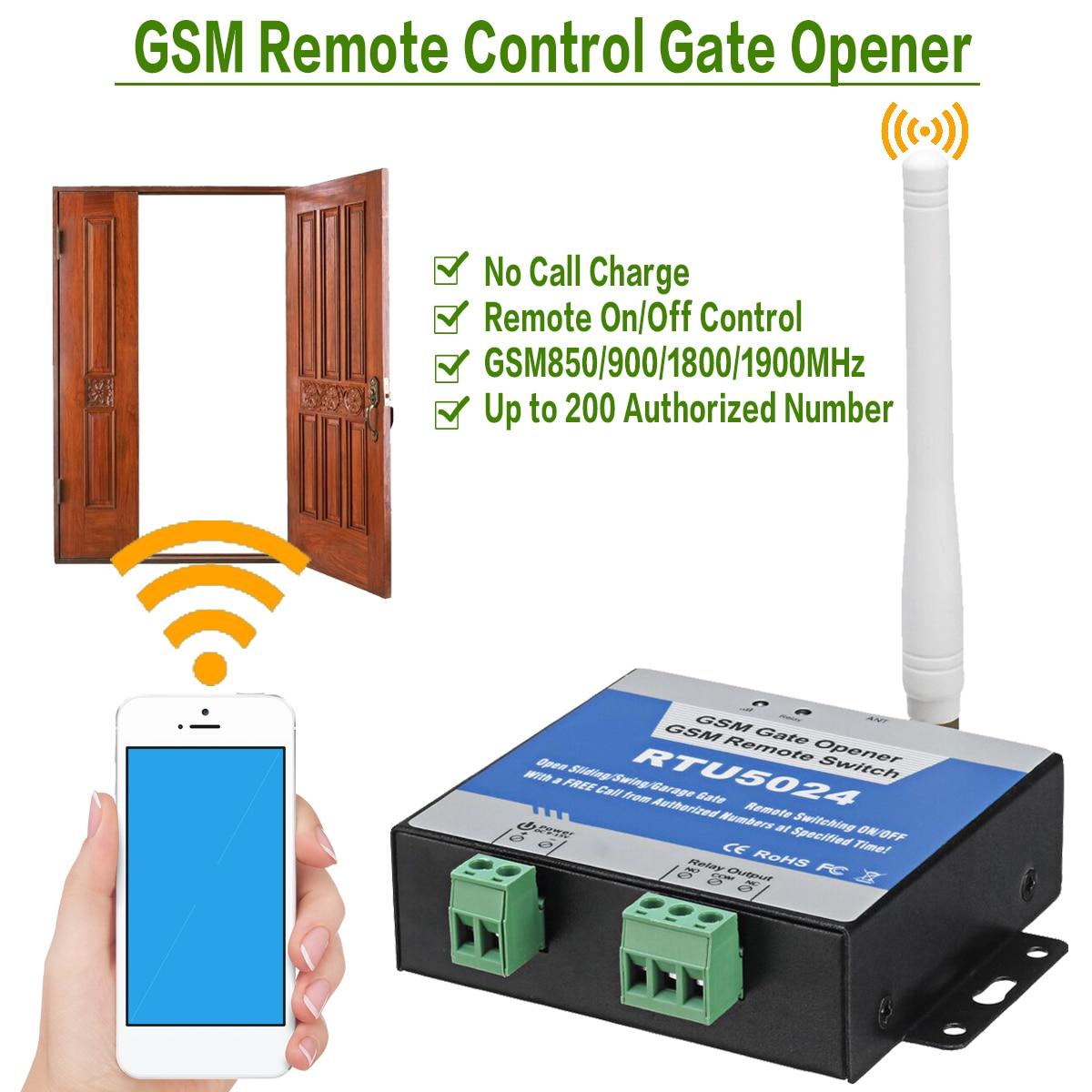 Гарнитура звонки во время SMS удаленный доступ Управление Беспроводной открывания двери передатчик RTU5024 GSM гараж качели открывающего механизма раздвижных ворот реле