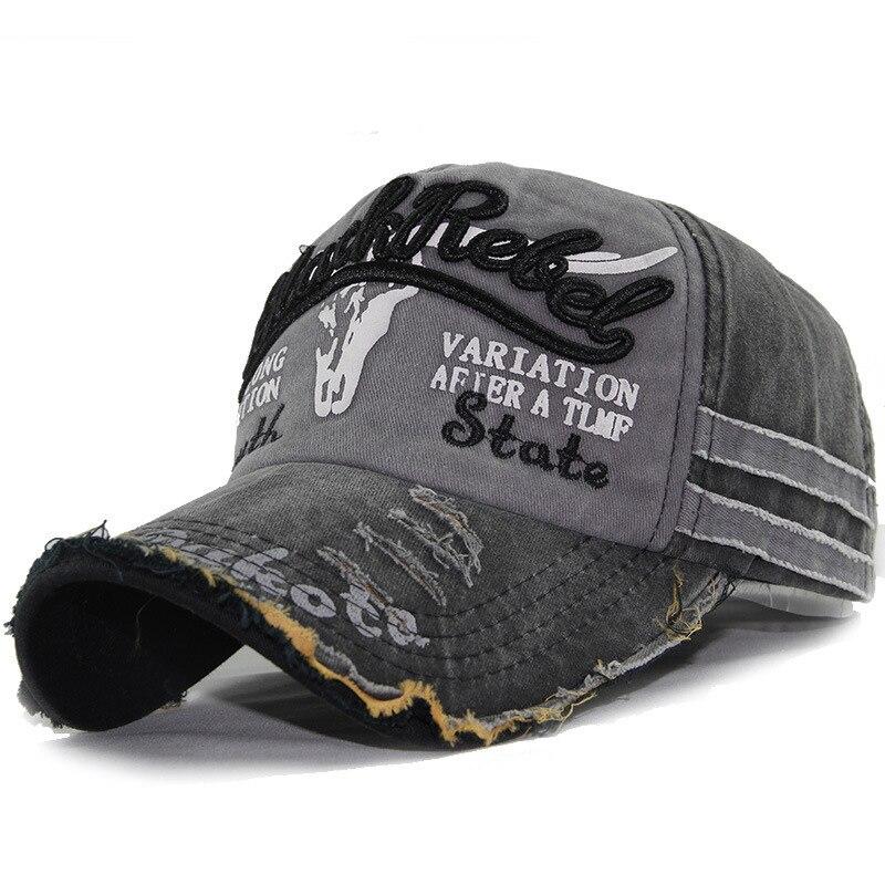 Gorra de béisbol con visera de cabeza de toro viejo de primavera Bordado de letras gorra de verano para hombre gorra para el sol deportiva para moto gorra lavada A09