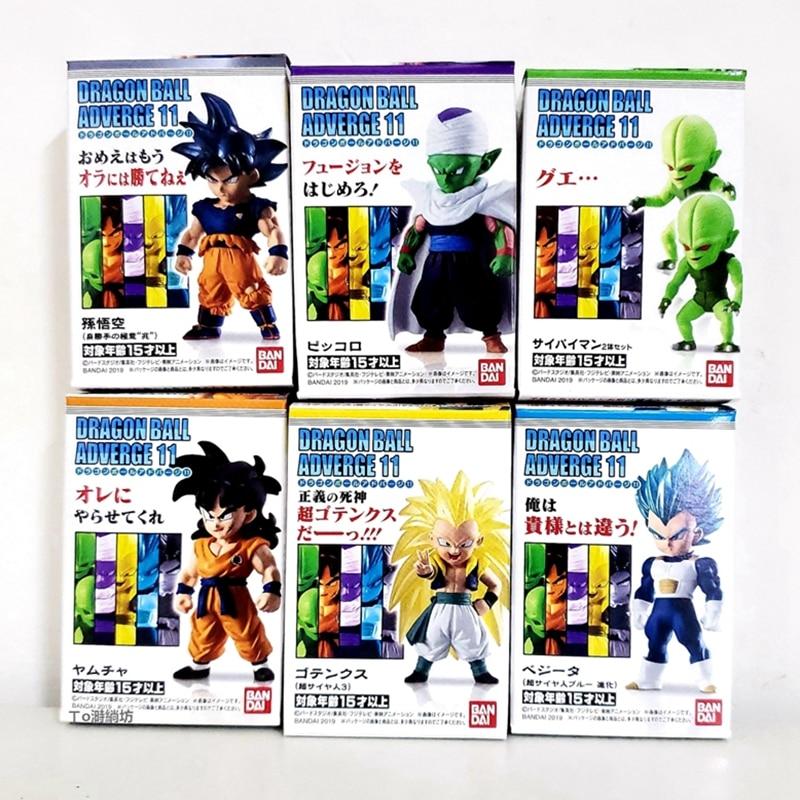 En Stock WSTXBD BANDAI Dragon Ball Z DBZ Adverge 11 Goku UI azul Vegeta Yamcha hombre vegetal juguetes de figuras de PVC Figurals muñecas